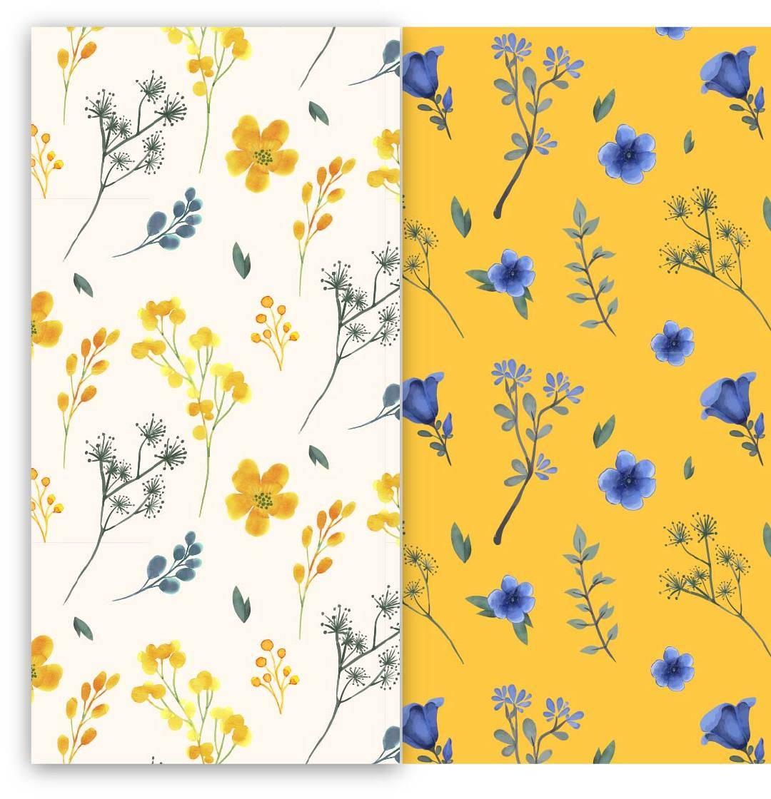 数码印花矢量图植物花卉图案-POP花型网