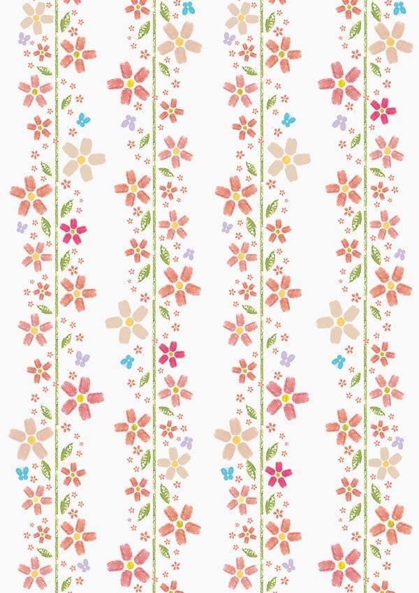 粉色植物花卉矢量图热转印源文件-POP花型网