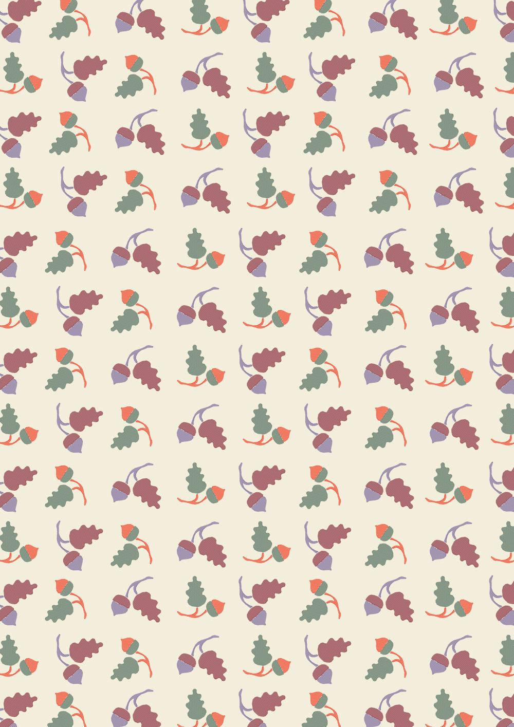 松果果实拼接矢量图印花花型源文件-POP花型网