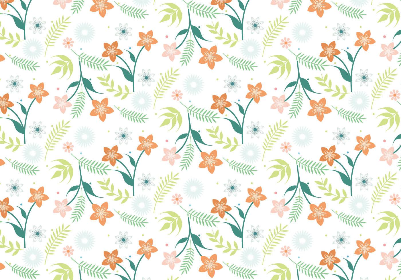 数码印花矢量图植物花卉拼接图形-POP花型网