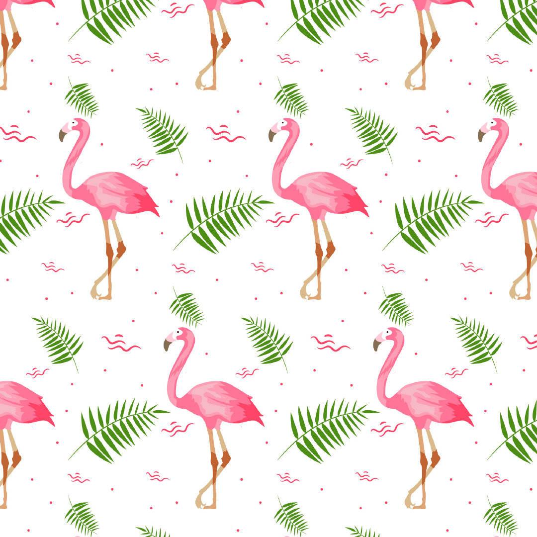 粉色火烈鸟矢量图免扣图案源文件-POP花型网