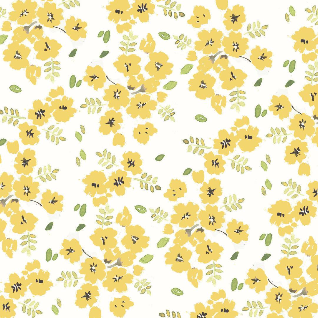 黄色花朵拼接矢量源文件-POP花型网