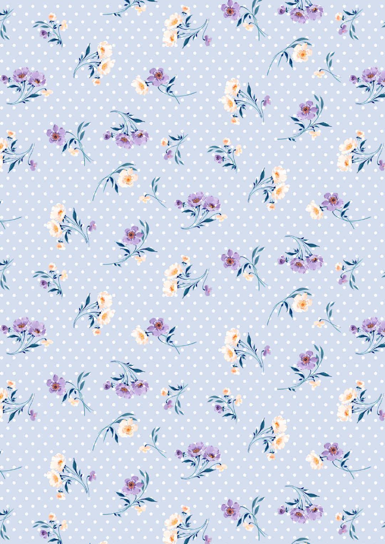 点点底纹淡蓝色植物花卉矢量图-POP花型网