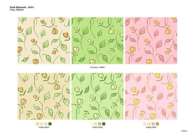 植物花卉矢量图服装热转印源文件-POP花型网