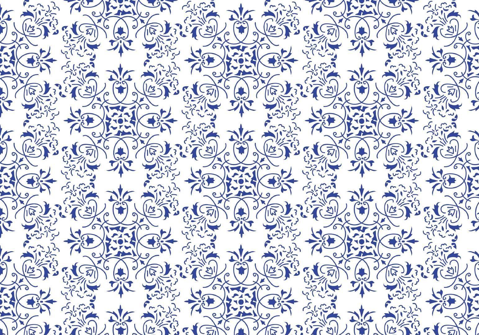 蓝色线条几何图形数码印花矢量图-POP花型网