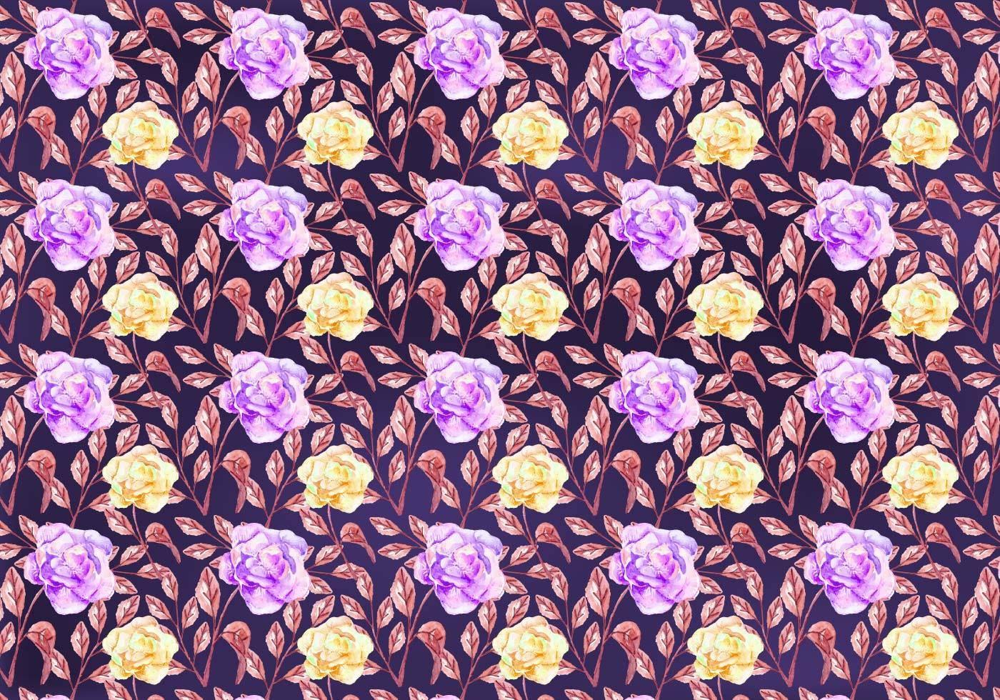 淡紫色花朵碎花拼接矢量图-POP花型网