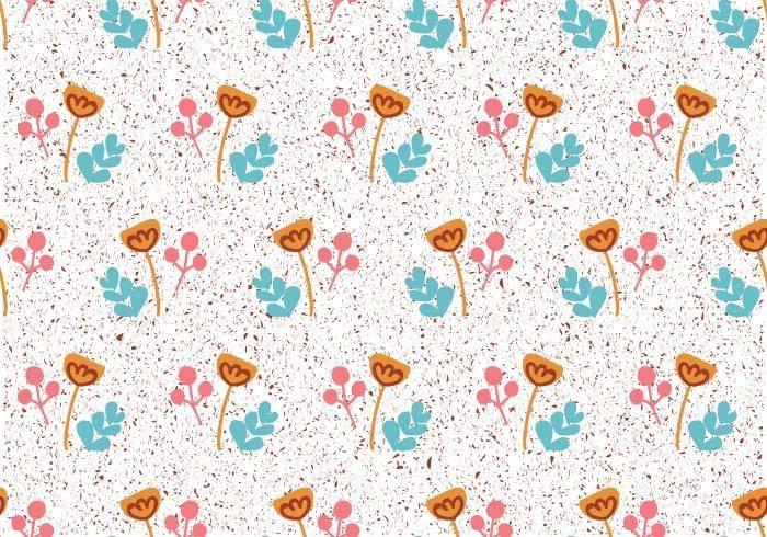 小碎花小花朵儿童数码印花矢量图-POP花型网