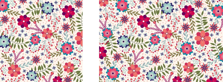 粉色可爱风植物花卉数码印花矢量图-POP花型网