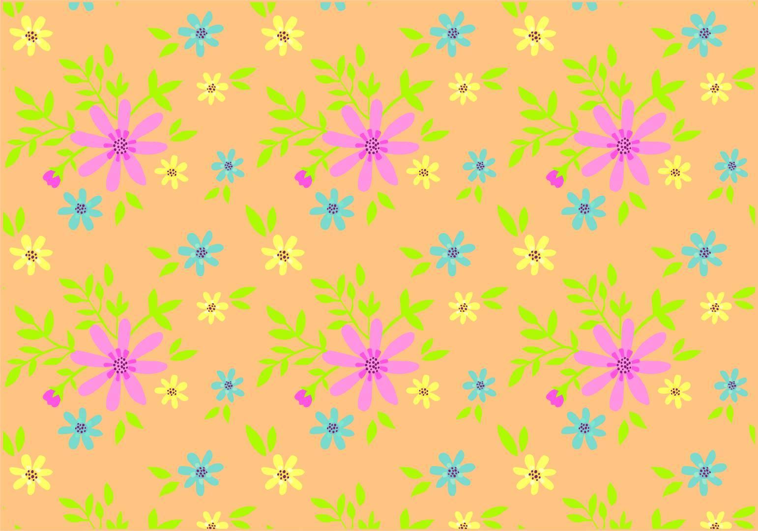 小碎花 服装印花 矢量图-POP花型网