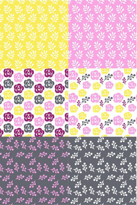 小碎花小花朵数码印花图案-POP花型网