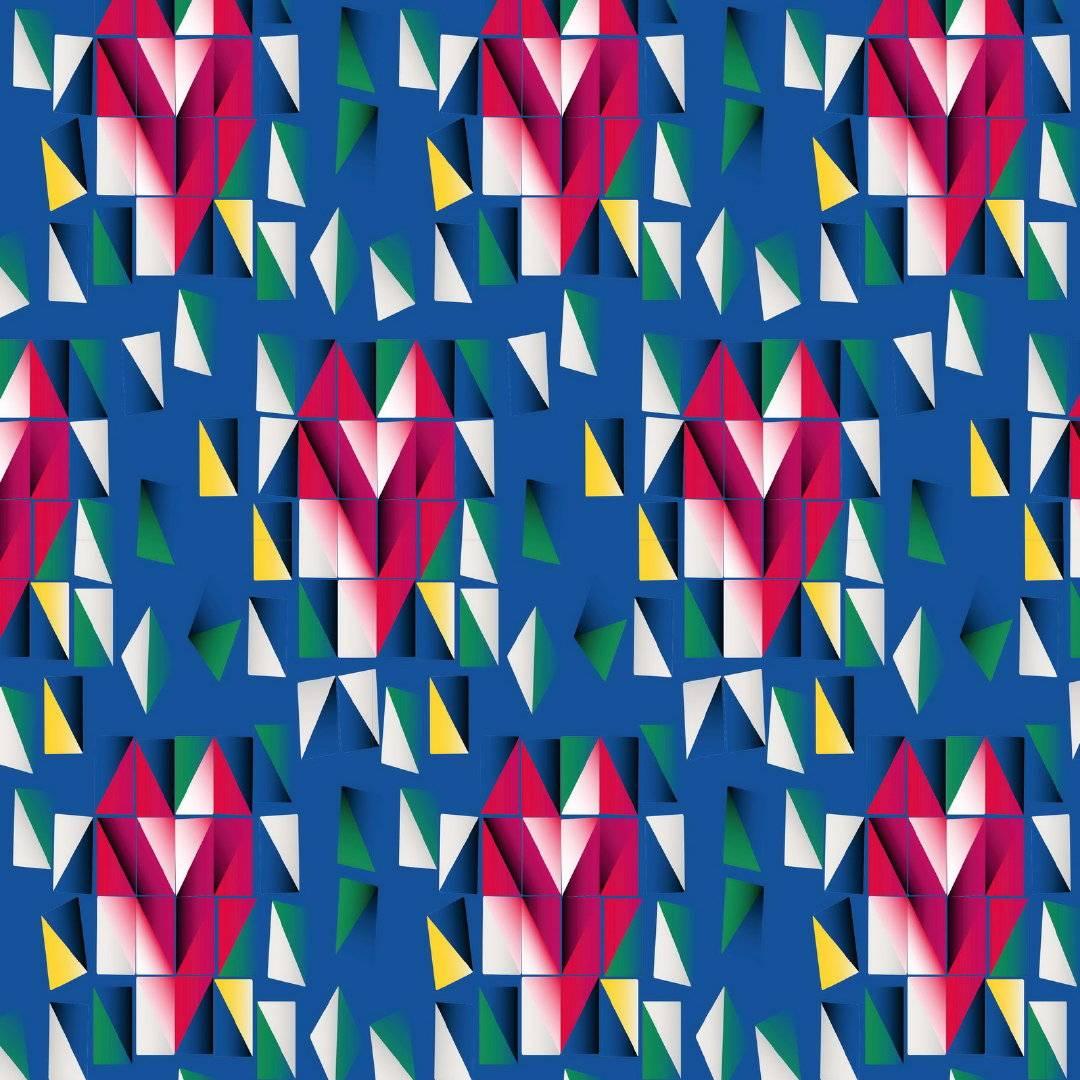 几何图形拼接马赛克图形矢量图-POP花型网