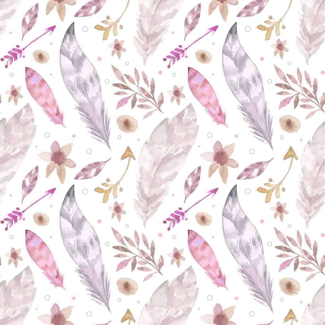 羽毛叶子拼接矢量图-POP花型网