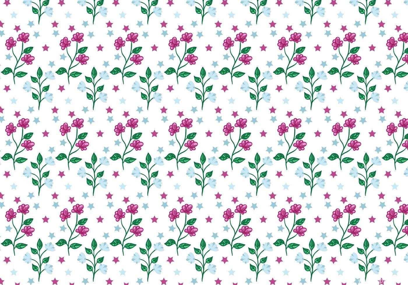 五角星紫色小碎花拼接矢量图印花花型源文件-POP花型网