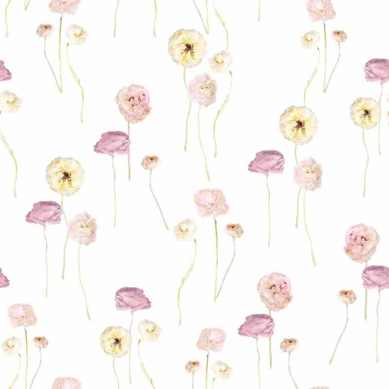 粉色牡丹花印花矢量图-POP花型网