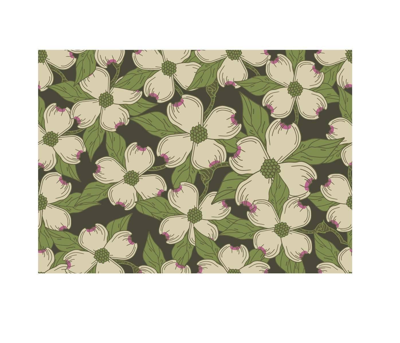 植物印花矢量拼接图-POP花型网