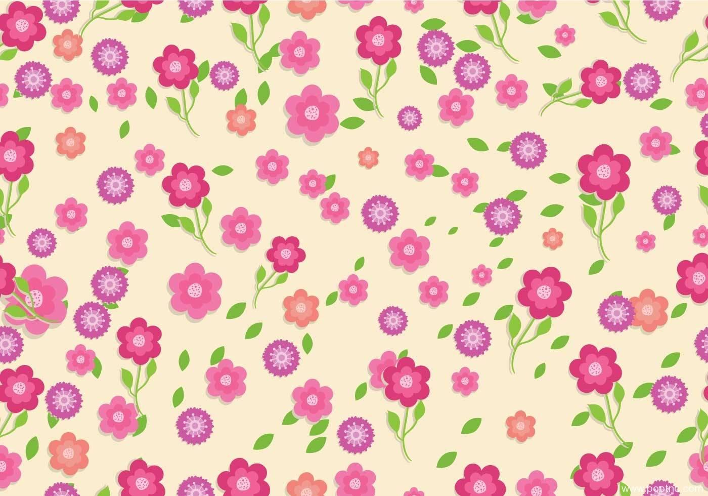 粉红小碎花拼接矢量图花型源文件-POP花型网