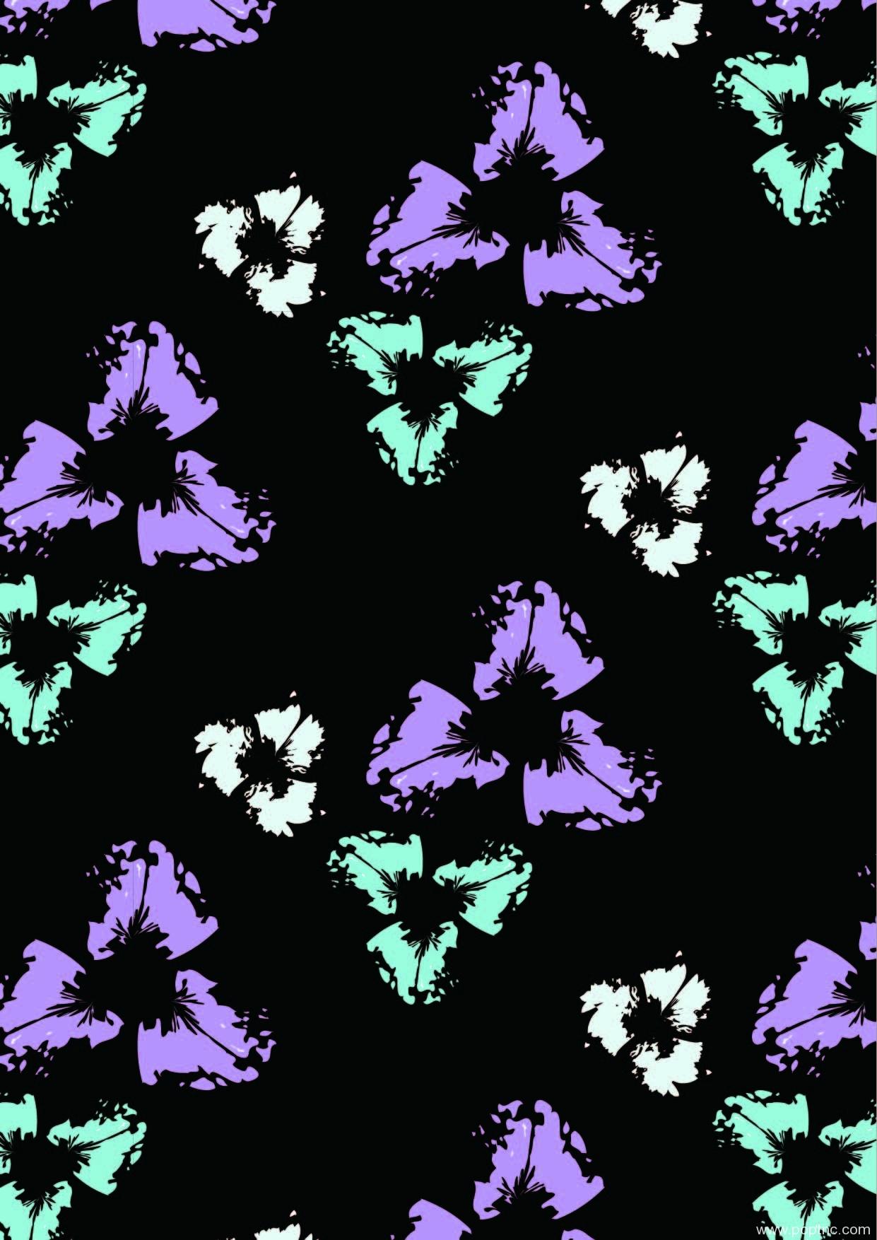 植物花卉矢量图花卉图案数码印花源文件-POP花型网
