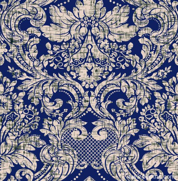 复古几何花朵纺织面料印花矢量图金昌分色稿源文件-POP花型网