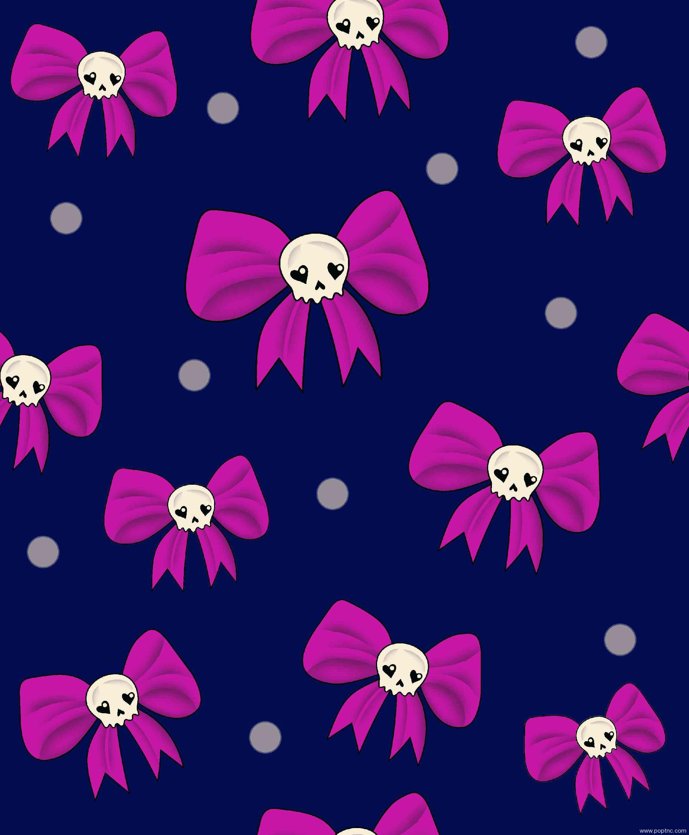 新款服装纺织面料水印数码印花矢量图卡通蝴蝶结花型金昌分色稿源文件-POP花型网