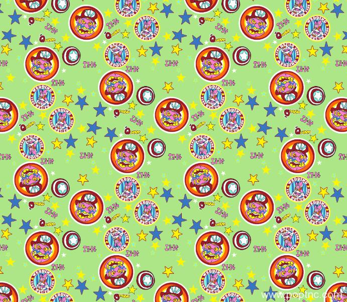 卡通五角星圆形图案拼接矢量图纺织水印数码印花金昌分色稿源文件-POP花型网