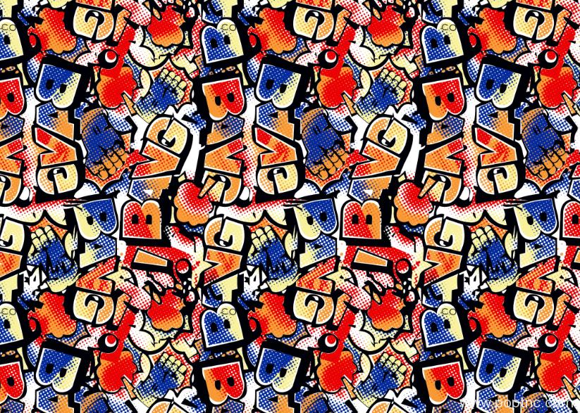 新款多彩纺织字母拼接印花矢量图 金昌格式分色稿源文件-POP花型网