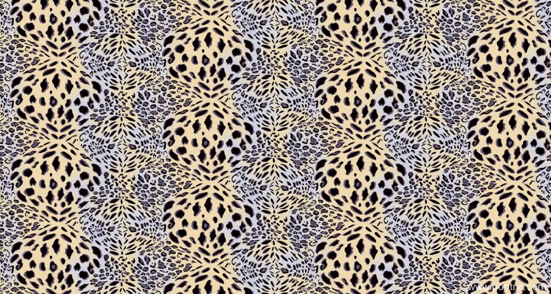 新款几何豹纹拼接纺织面料水印数码印花矢量图金昌分色稿-POP花型网