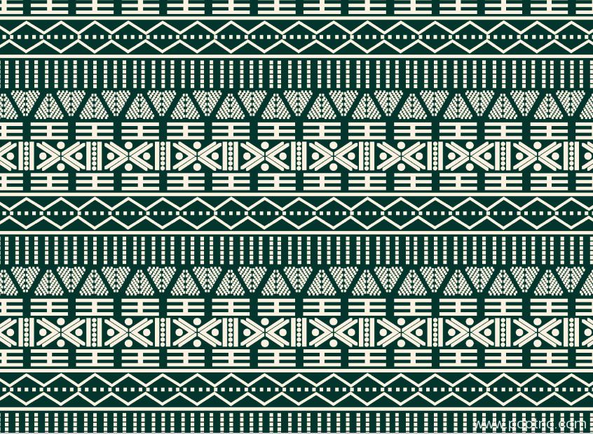 新款纺织面料水印数码印花矢量图几何拼接金昌分色稿源文件-POP花型网
