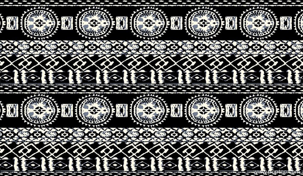 黑白几何拼接水印数码印花矢量图服装纺织面料印花金昌分色稿源文件-POP花型网