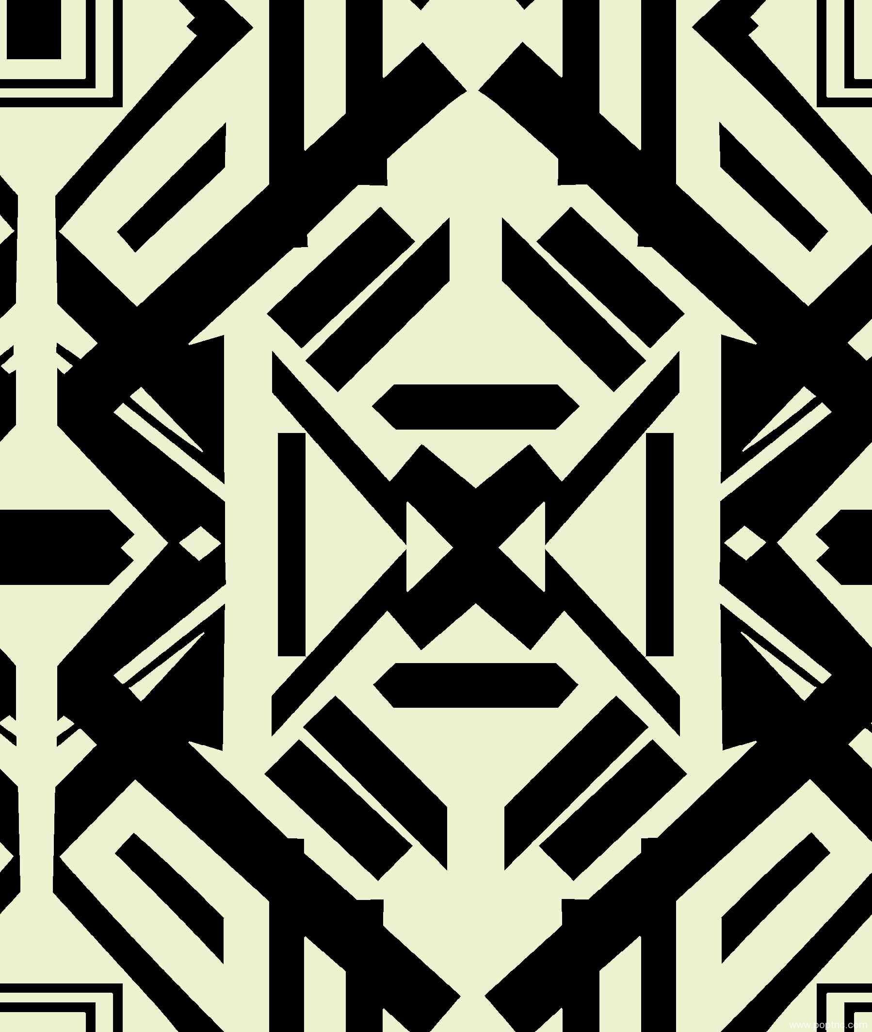 新款几何图案拼接矢量图服装纺织面料水印数码印花源文件金昌分色稿-POP花型网