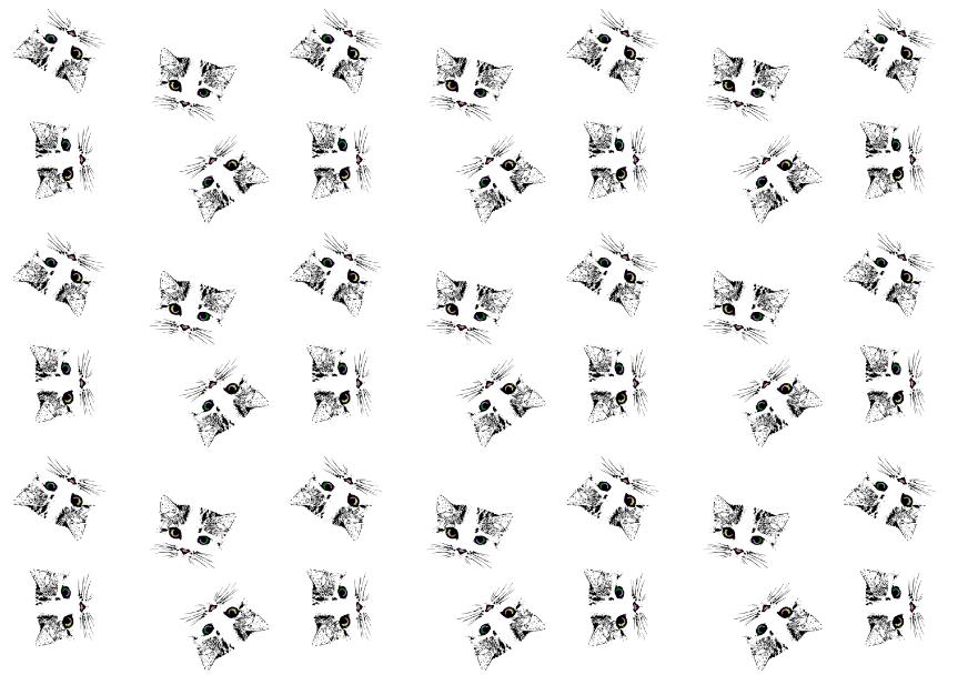 纺织面料矢量图猫咪图案花型金昌分色稿-POP花型网