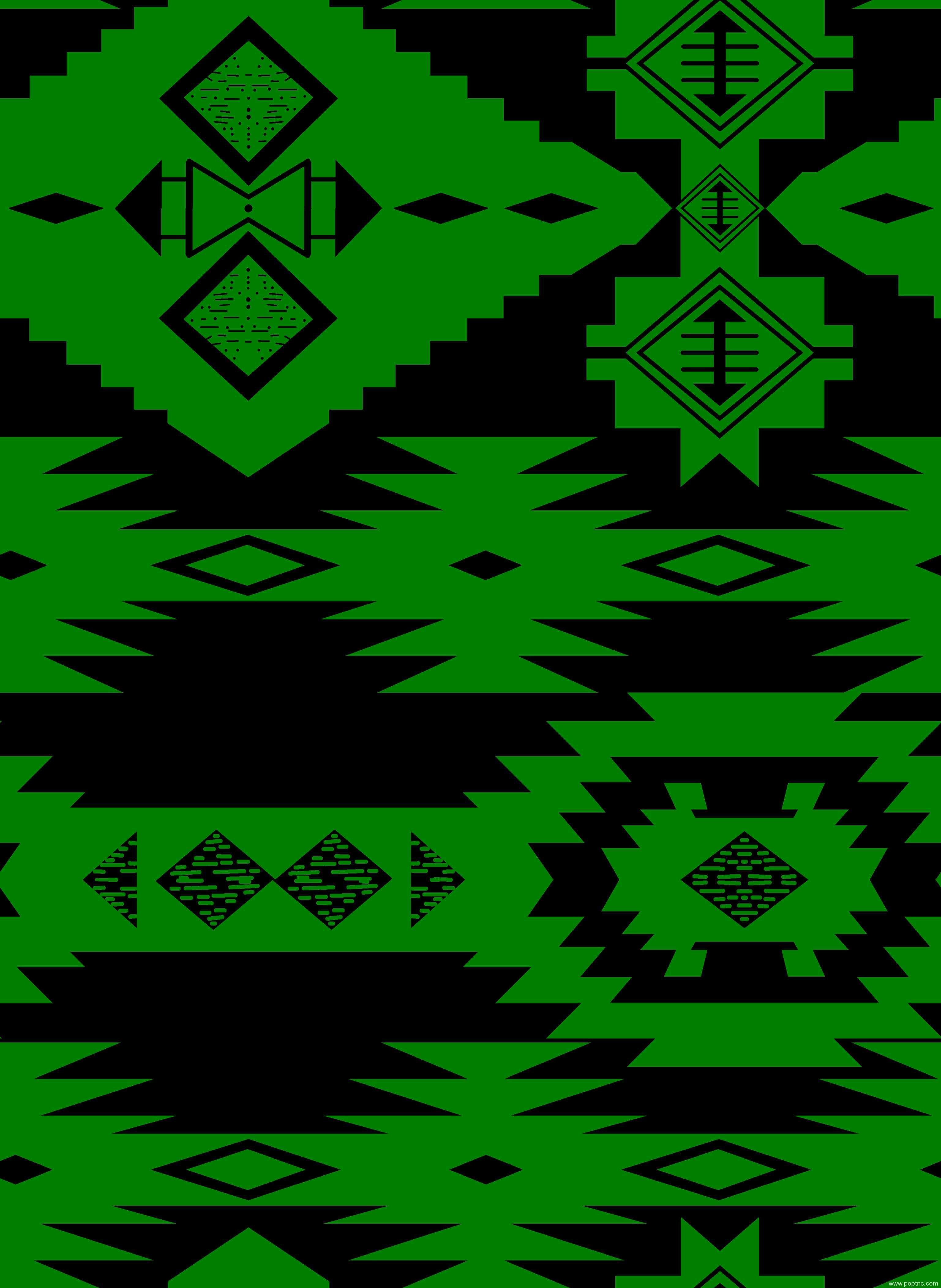 绿色几何图案拼接矢量图纺织面料水印数码印花金昌分色稿-POP花型网