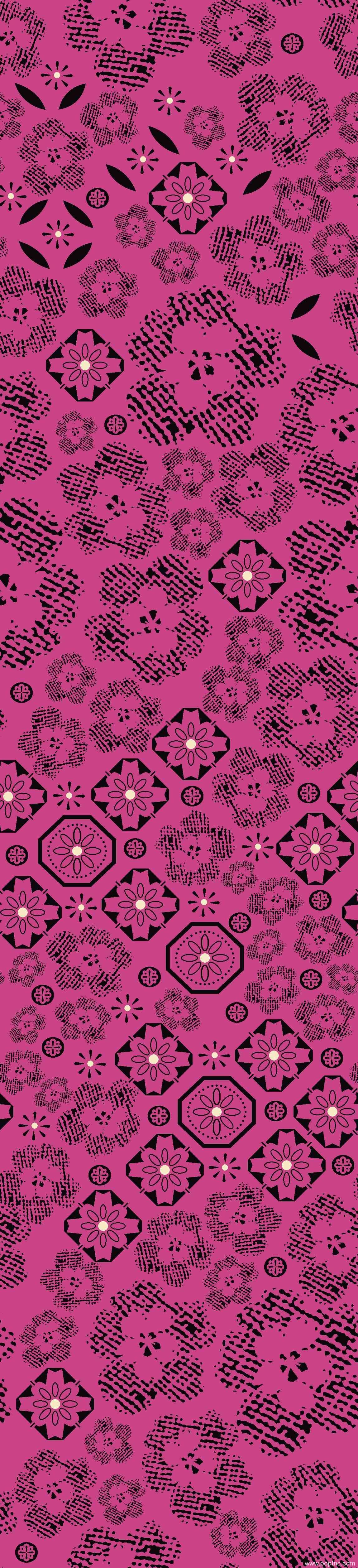 服装面料水印数码印花矢量图植物花卉图案金昌格式源文件-POP花型网