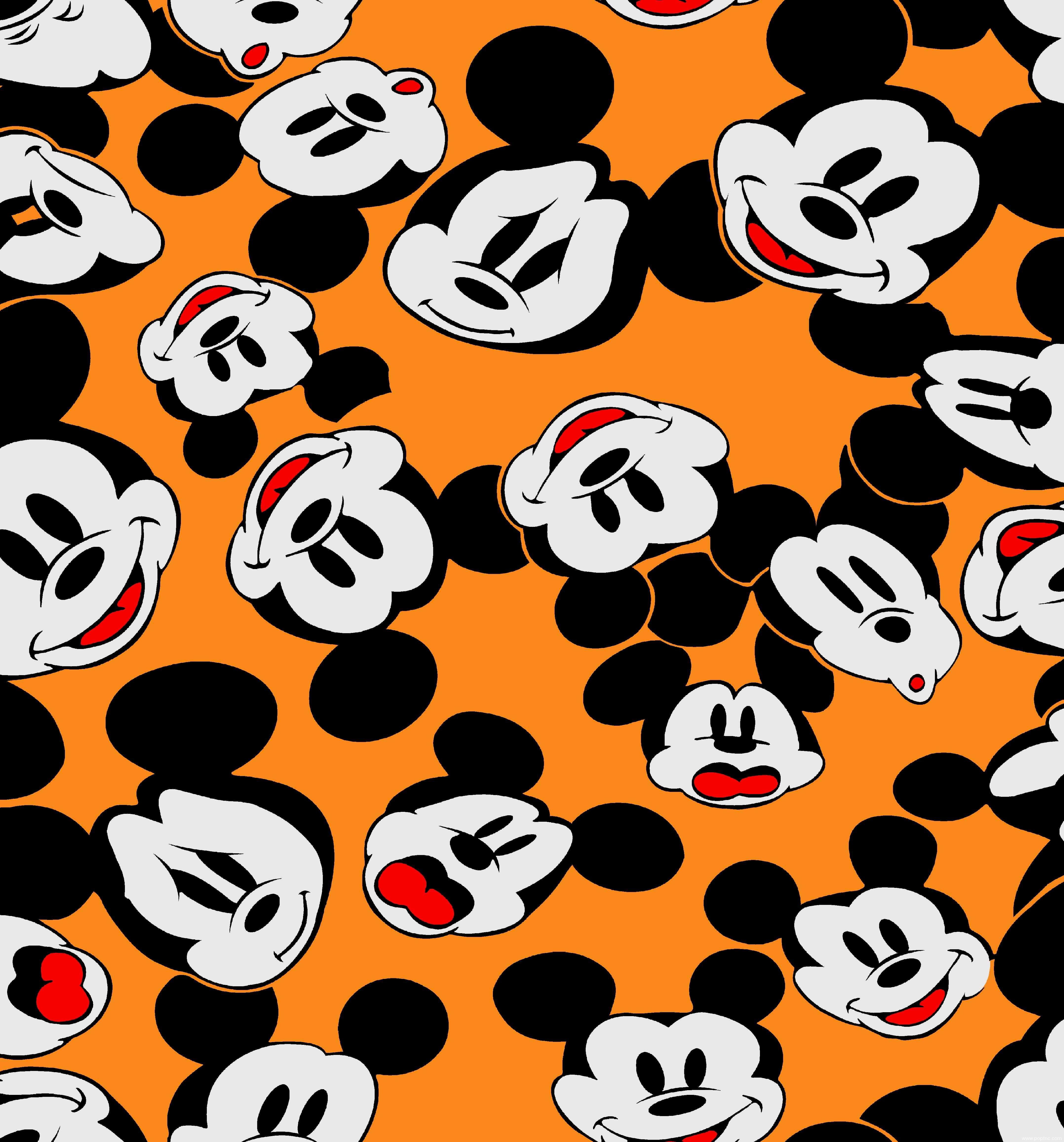 迪士尼卡通动画米奇纺织面料印花矢量图金昌格式源文件-POP花型网