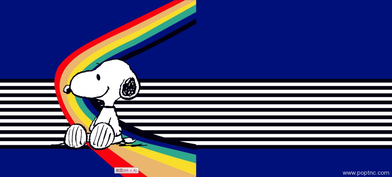 卡通彩虹条水印数码印花矢量图金昌格式源文件-POP花型网