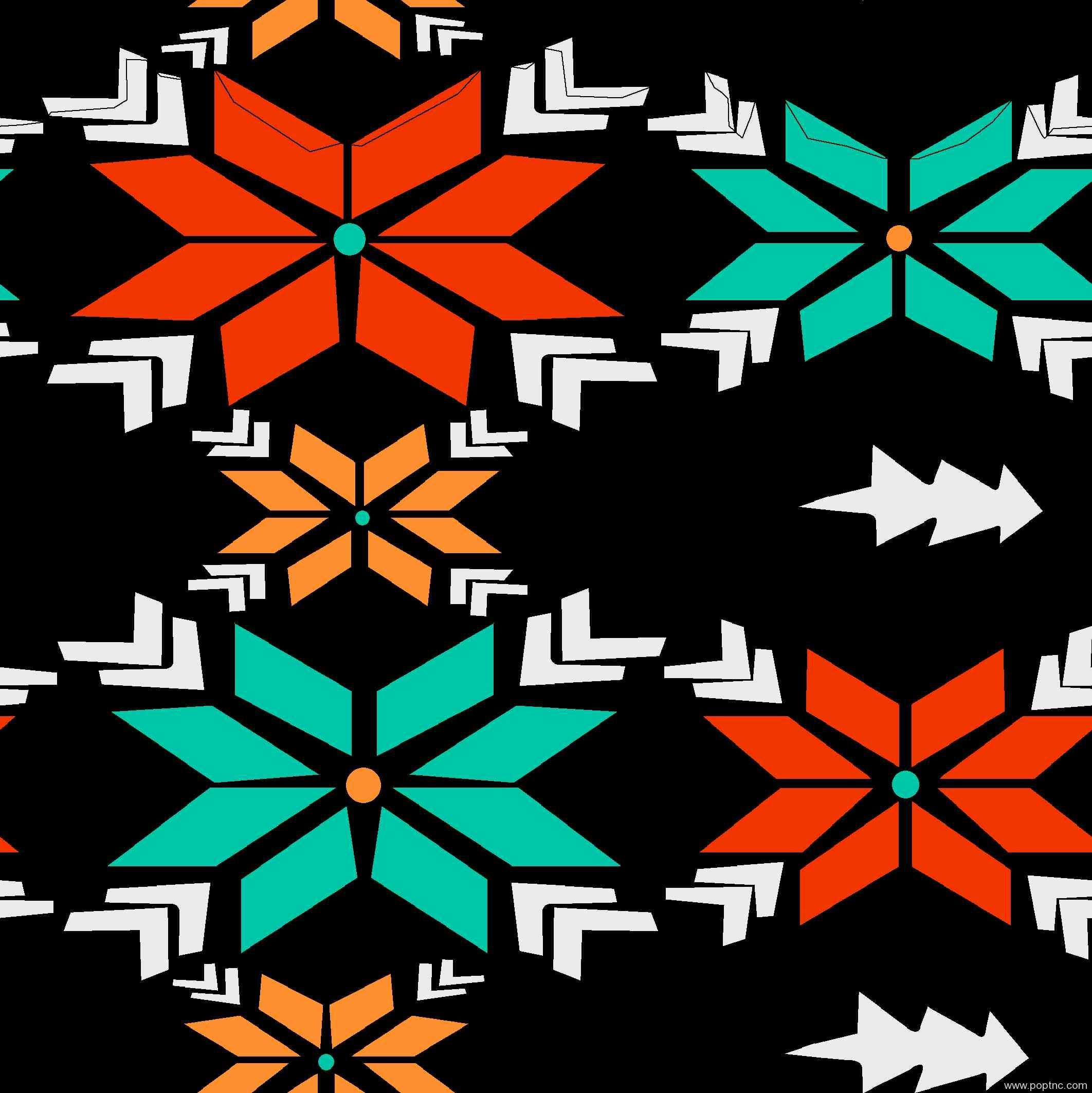 几何拼接雪花图案矢量图服装纺织面料印花花型金昌分色稿源文件A2693-POP花型网