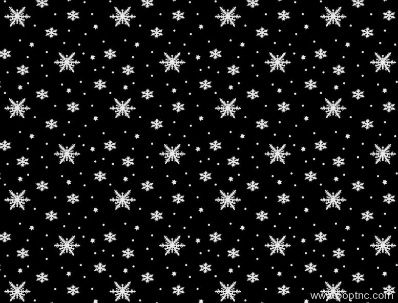 黑白雪花图案纺织面料水印数码印花矢量图金昌格式分色稿源文件a2677-1-POP花型网