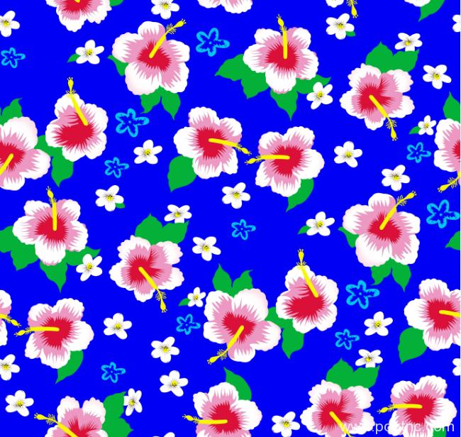 植物花卉矢量图源文件桃花花型图案金昌格式分色稿a2694-POP花型网