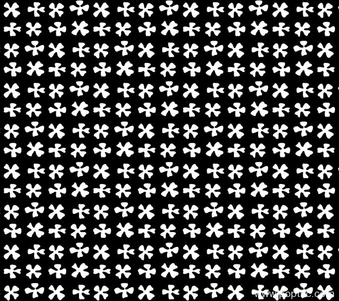 黑白几何图案纺织面料印花图水印数码印花金昌格式分色稿a2715-4-POP花型网