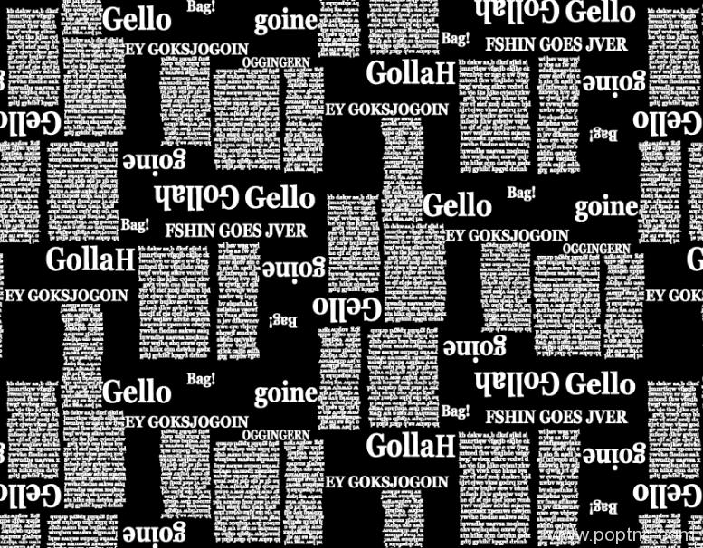 纺织面料印花图案字母拼接矢量图金昌分色源文件A2756-3-POP花型网