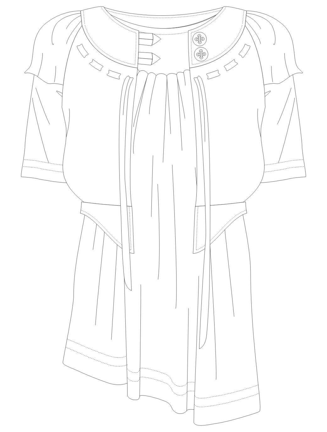 女装设计裙装设计服装设计手稿-POP花型网