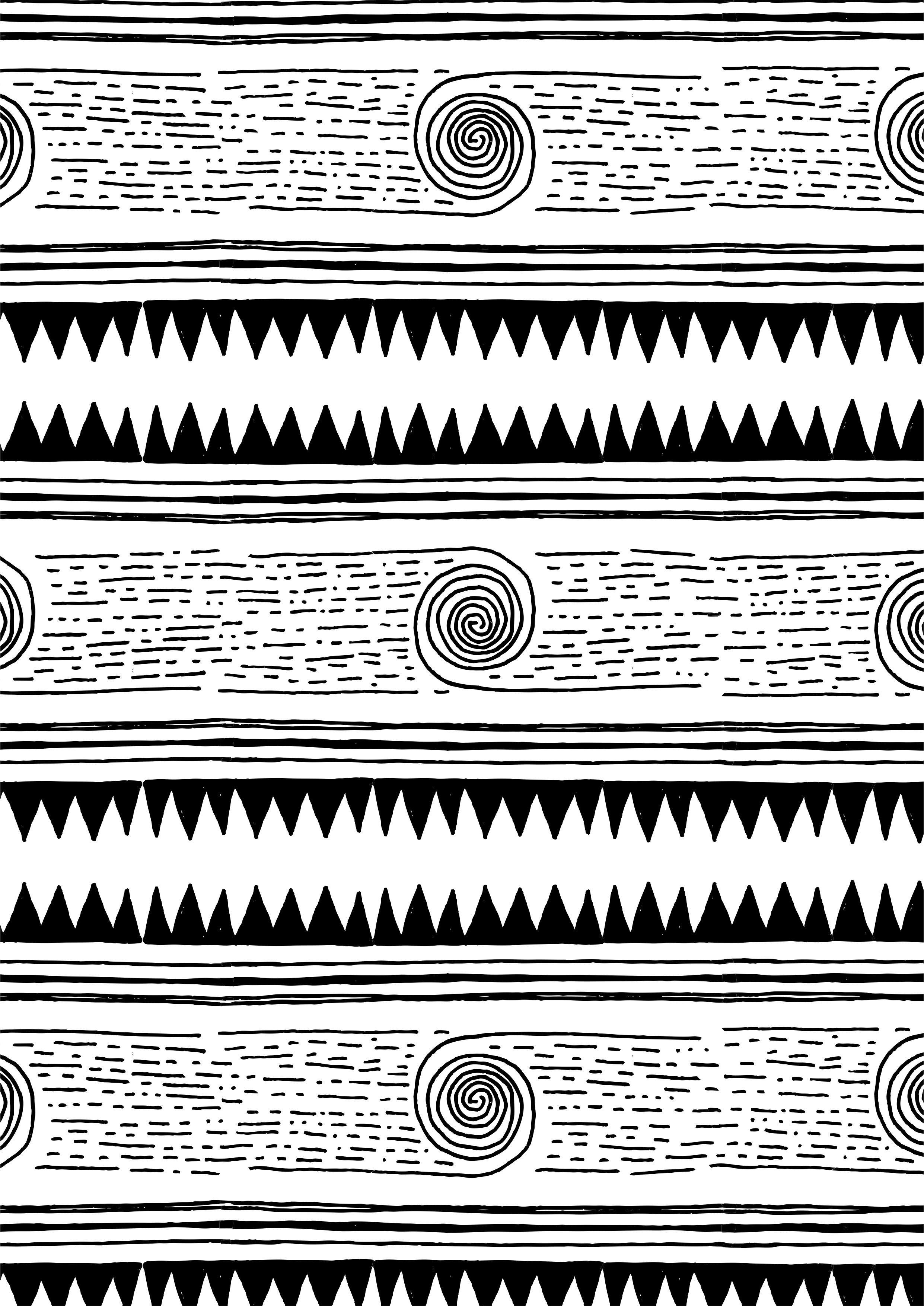 黑白几何图案矢量图服装面料数码印花花型-POP花型网