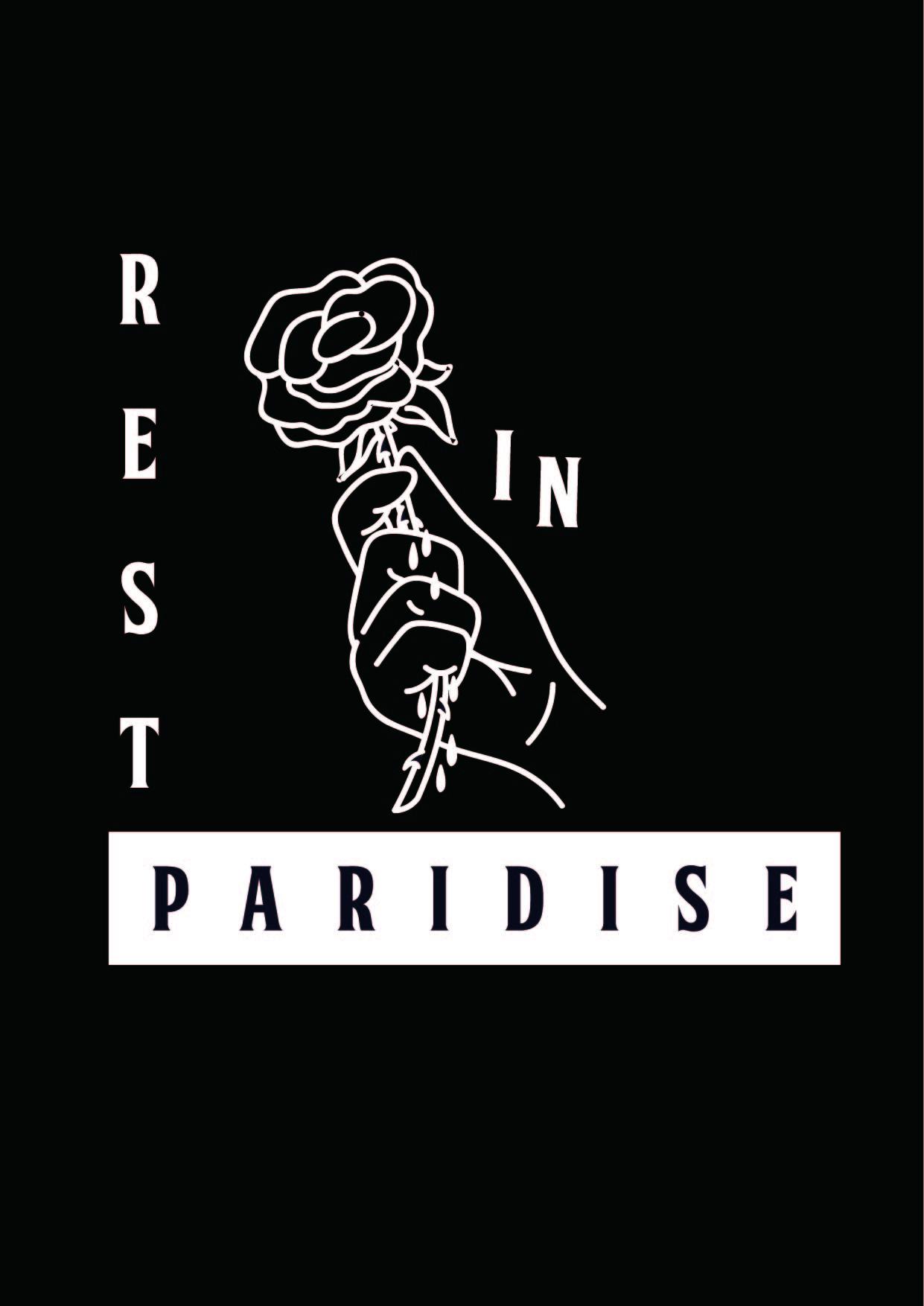 手拿玫瑰花字母矢量图服装裁片T恤印花花型-POP花型网