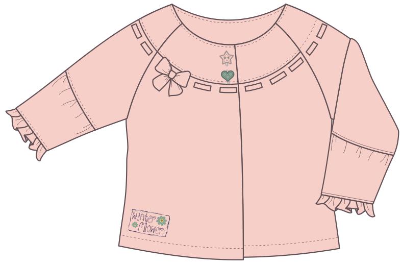 儿童上衣设计矢量图蝴蝶结装饰-POP花型网
