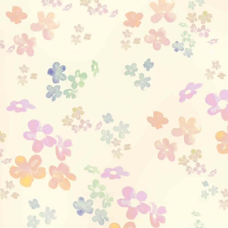 水墨花朵点缀拼接矢量图-POP花型网