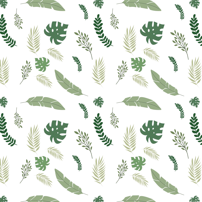 植物花卉绿色叶子拼接矢量图-POP花型网