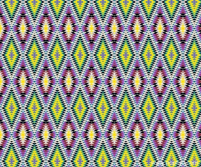 几何图案拼接菱形马赛克纺织面料水印数码印花矢量图金昌分色稿源文件-POP花型网