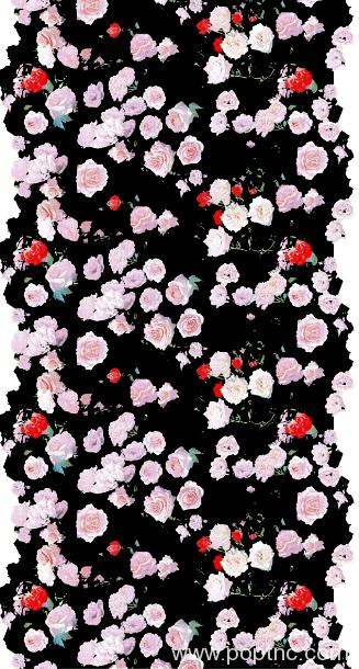 新款玫瑰花印花矢量图纺织面料印花花型金昌分色稿源文件-POP花型网