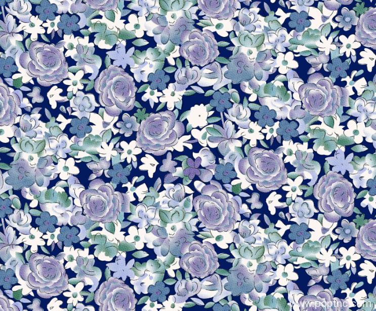 植物花卉水印数码印花矢量图金昌格式源文件A2675-POP花型网