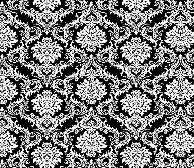 黑白几何拼接花型矢量图金昌分色稿源文件纺织面料印花图案a2673-POP花型网