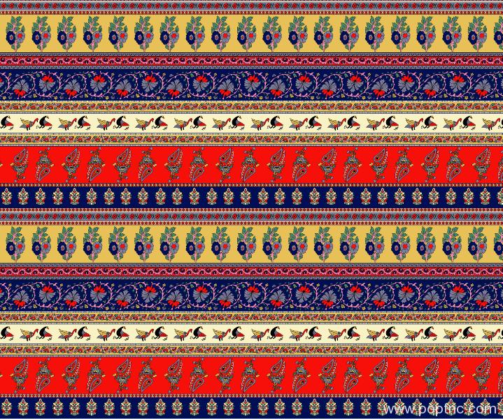 复古植物花卉飞鸟图纺织面料印花矢量图金昌分色稿A2692-2-POP花型网
